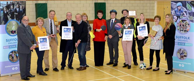Recent winners of a Suffolk's Most Active Community Award