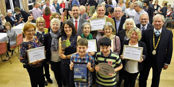 Some winners of a Suffolk's Most Active Community Award